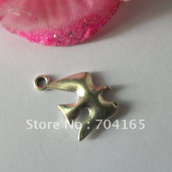 Free shipping Hot sale New arrival item antique wild goose/swallow charms QML00127 18.5X13MM 100pcs/lot(China (Mainland))
