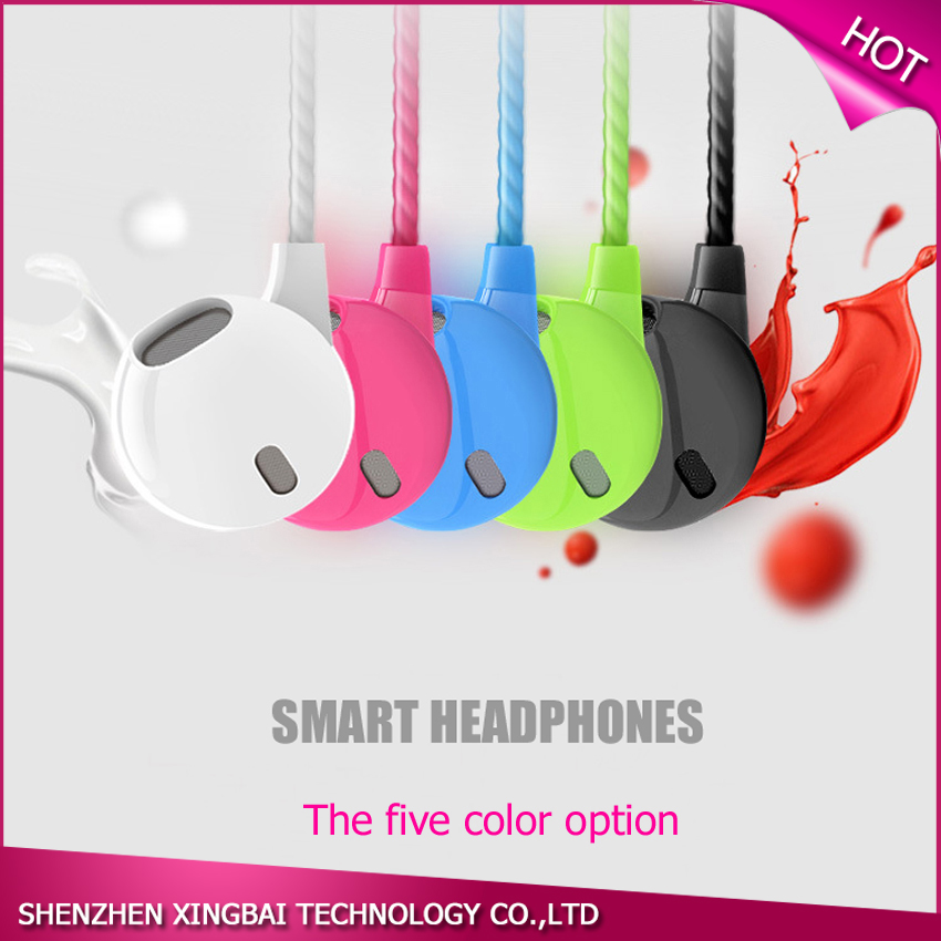 Original Colorful Stereo Earphones With Microphone Super Bass HiFi Handsfree In-Ear Earbud All Compatible for iPhone Samsung Mp3(China (Mainland))
