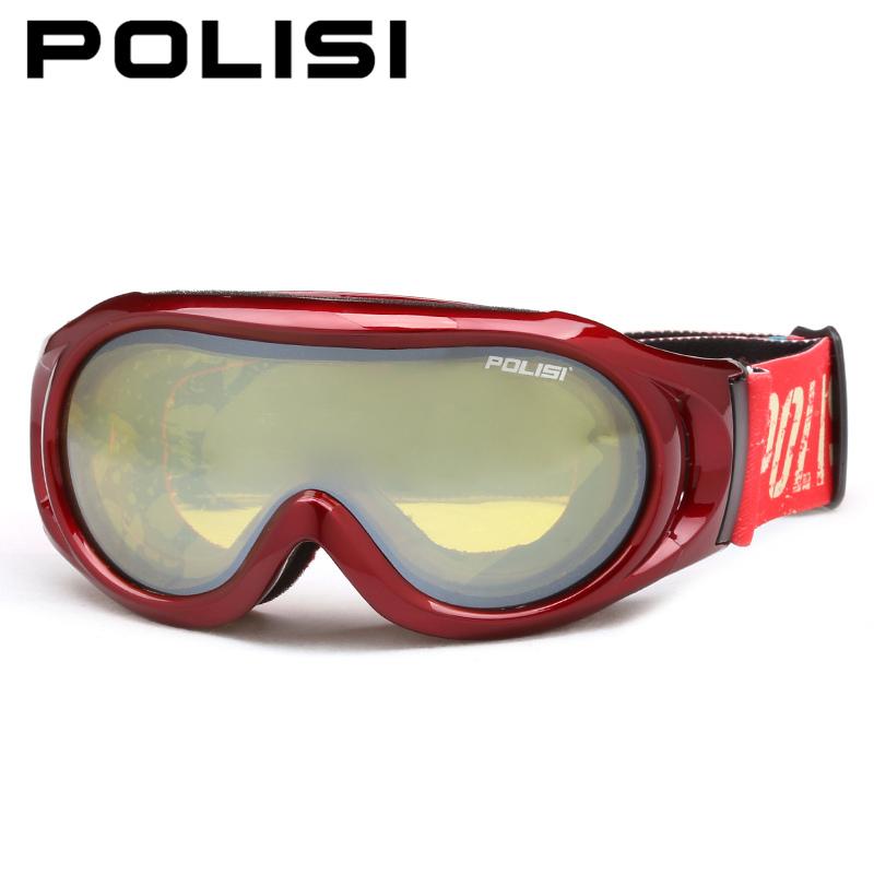 POLISI Winter Children Kids Anti-Fog Ski Goggles Double Layer Lens UV Protection Snowboard Eyewear Boys Girls Skiing Glasses