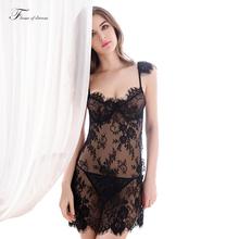 Кружева ночные сорочки женщины ночное пижамы платья ночные рубашки для женщин, спящих платье женщины ночь платье пижамы сексуальные ночной рубашке(China (Mainland))