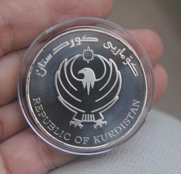 Kurdistan Independence Coin Medal Turkish Cyprus Islamic empire russia iraq muhammad arabic muslim isreal jerusalem angel india(China (Mainland))