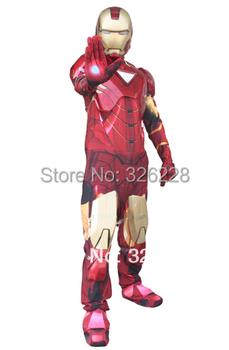 Free Shipping Iron Man Full set Cosplay Costume Muscle set and Deluxe set Performance Wear Costume for Child  and Adult