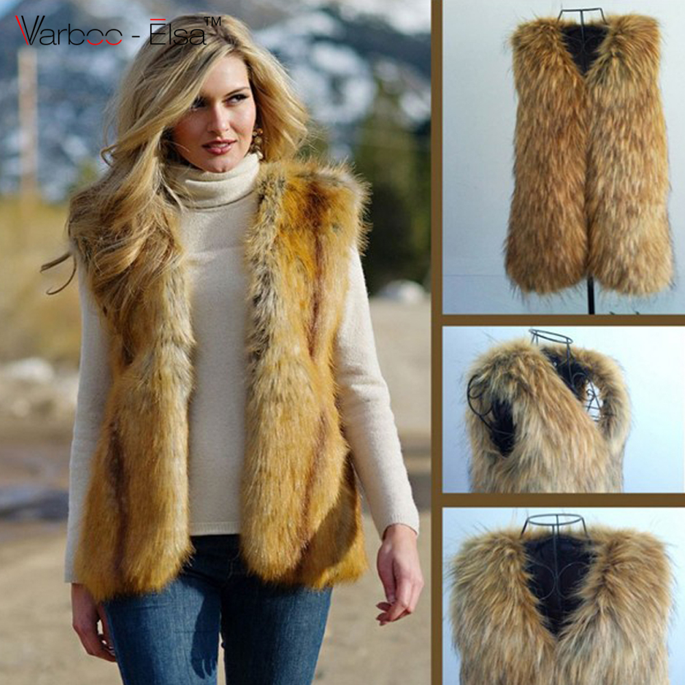 Popular Women Faux Fur Vest-Buy Cheap Women Faux Fur Vest lots ...