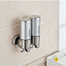 S1000ml S/S 304+plastic Banheiro Lotion Dispenser,Home Washroom Wall Mounted Soap Sanitizer Bathroom Shower Shampoo Dispenser(China (Mainland))