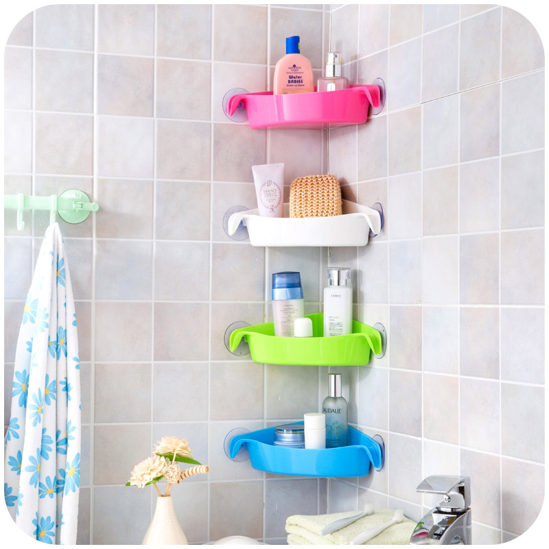 Multi strong sucker bathroom racks kitchen racks toilet for Bathroom accessories racks
