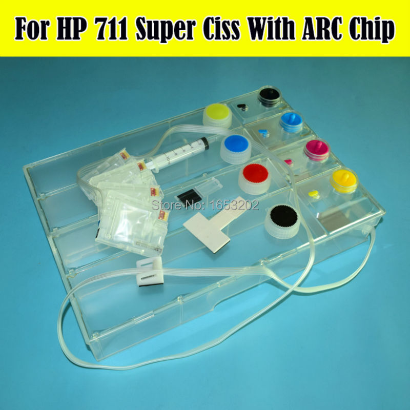 For HP 711 Ciss With ARC Chip 3