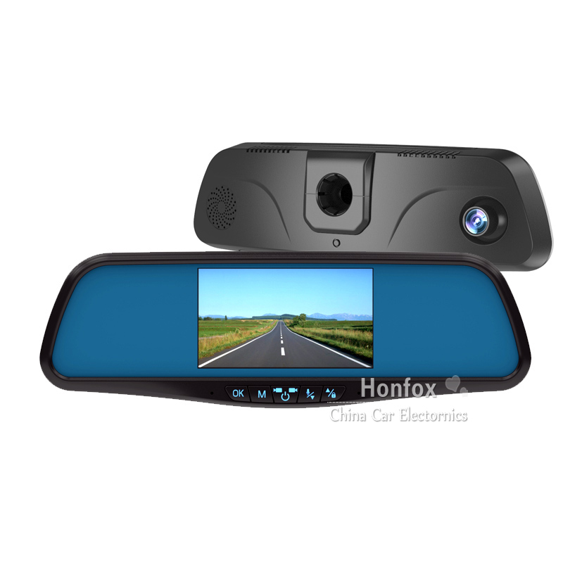 Фотография 4.3 inch HD Digital Screen Rear view Mirror Car DVR Rear View camera with 170 wide-angle G-Sensor