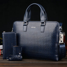 2015 Hot Sell Promotion Simple Dot Design Famous Brand Business Men Briefcase Bag,Luxury Wholesale Leather Laptop Bag For Man(China (Mainland))