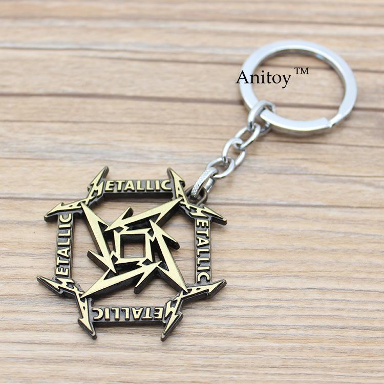 Music Band Metallica Key Chain Key Rings Jewelry for car Souvenir Chaveiro Drop-shipping KT2682(China (Mainland))