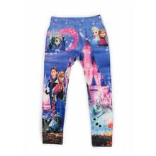 iMucci 4-8 Y Girls Anna Cartoon Print Leggings Girl Pantyhose Children Spring Jeans Autumn Elsa Kids Pants Printing Legging(China (Mainland))