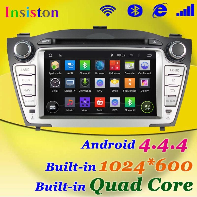 Free Shipping+HD 1024*600 Android 4.4.4 Car DVD Quad core Player For Hyundai TUCSON / IX35 Capacitive Screen+WIFI 3G+MirrorLink(China (Mainland))