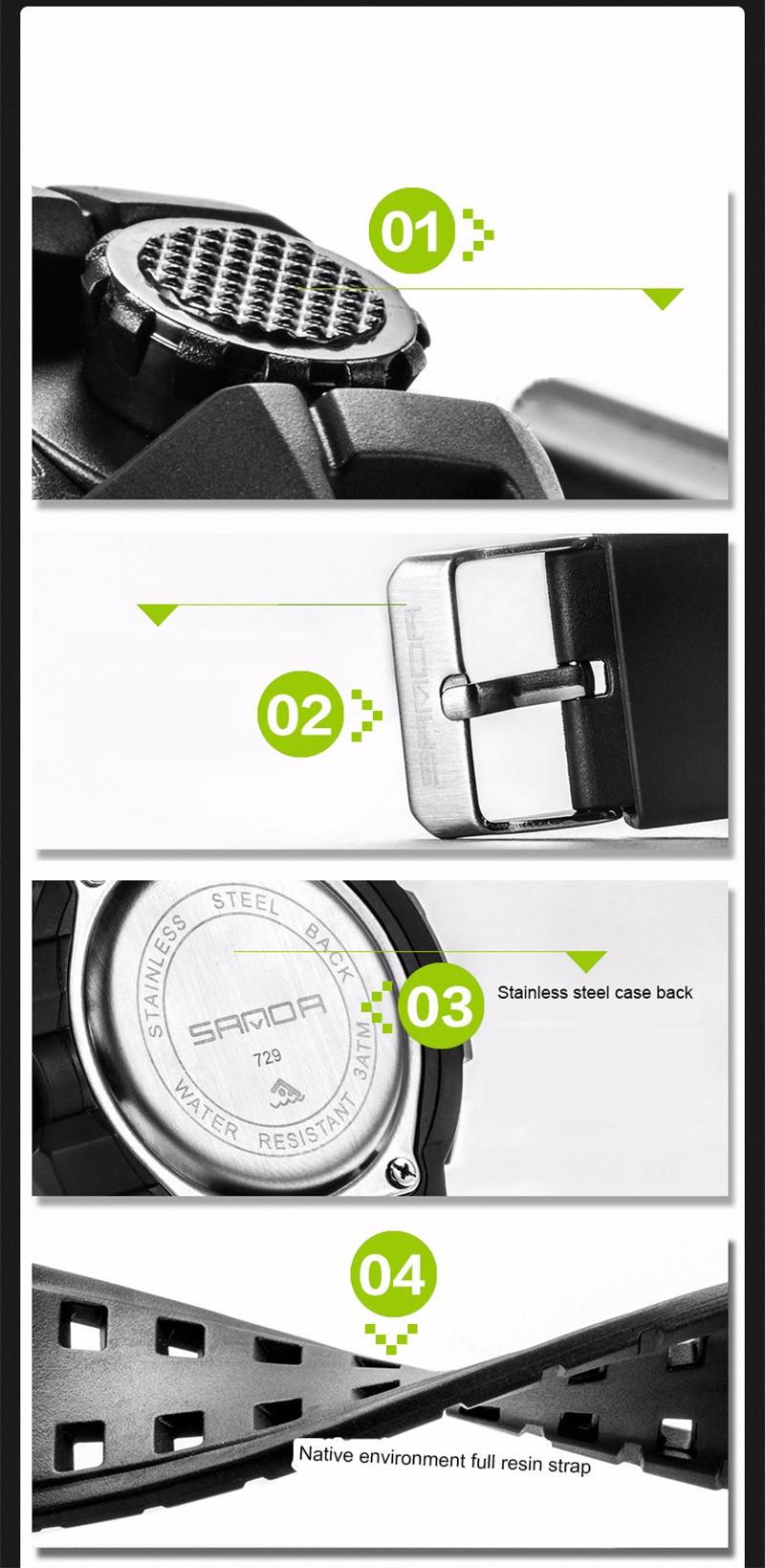 2016 Новый Двойное Движение многофункциональные Спортивные Электронные часы студентов смотреть моды пластины подростков нейтральный спортивные часы