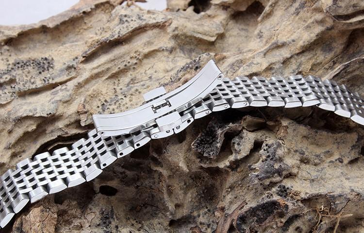 Бесплатная доставка 13 мм 18 мм ремешок серебряный браслет из нержавеющей стали развертывания браслеты