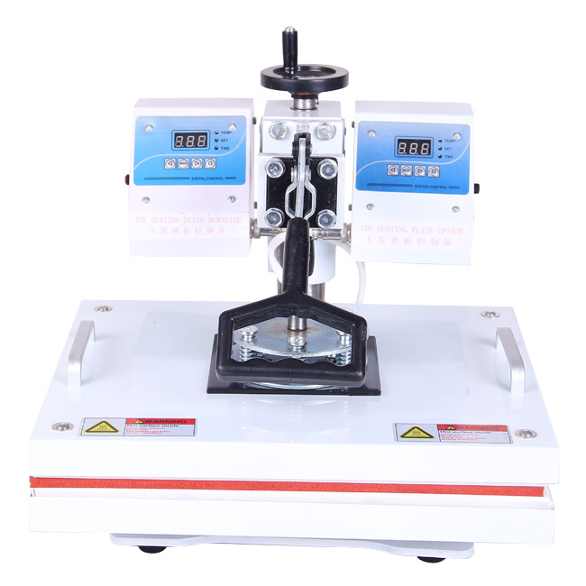 2013 newest design heat press machine with two temperature controlers better printing effect new year promotion
