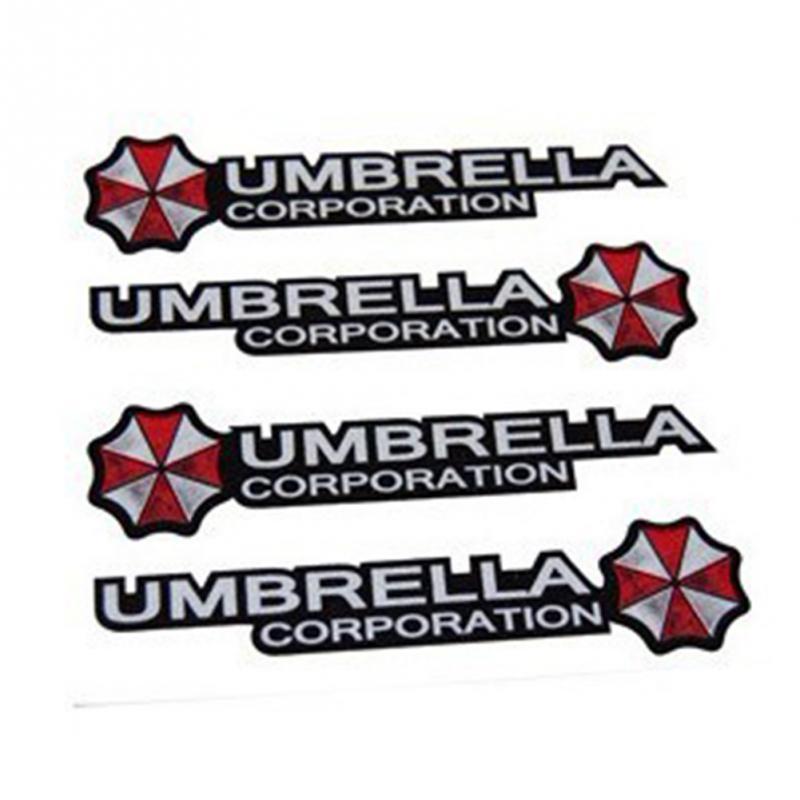 4pcs Fashion Umbrella Car Stickers Decal Cover Waterproof Auto styling On Car Door Handerbar Decor(China (Mainland))