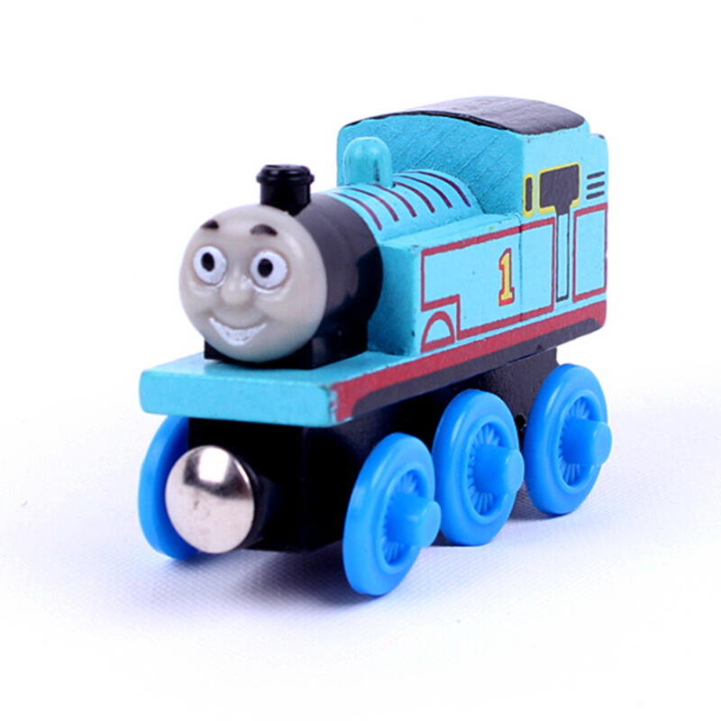 "Free shipping "" Thomas"" model Wooden Magnetic Thomas and Friends toys baby learning & education toys pista de carro brinquedos(China (Mainland))"