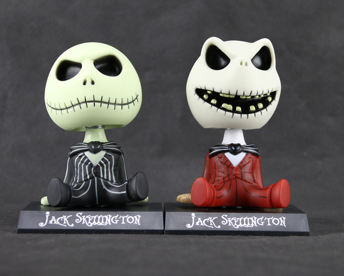 10pcs/set  Animation The Nightmare Before Christmas Jack Skellington Bobble Head <br><br>Aliexpress