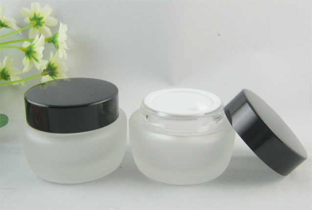 High quality Freeshipping 40g Clear Glass Bottle Eye Cream Bottle  Cosmetic Jar Makeup Jar Aluminum Cap 20psc/lot  Wholesale<br><br>Aliexpress