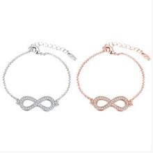 Buy Brand Charm Bracelets & Bangles Rose Gold Women Elegant Fashion Wedding Party Jewelry NEW Sl 231 for $2.47 in AliExpress store