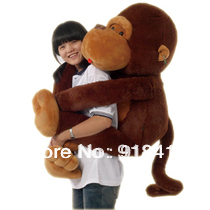 Factory Price cheap on sale,80cm giant stuffed monkey stuffed animal Valentine gift for Girls, Free shipping