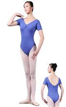 Une combinaison de danse ballet justaucorps service de la pratique à manches courtes 01 x 0136