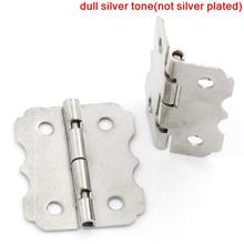 Door Butt Hinges(rotated from 90 degrees to 210 degrees)Silver Tone 4 Holes 24mm x 20mm,50PCs 2015 new(China (Mainland))