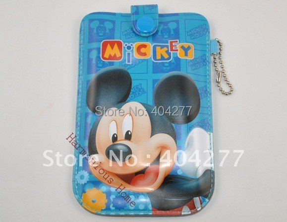 Cute Cartoon Mickey Mouse Mobile Phone Pouch Cover with Ring