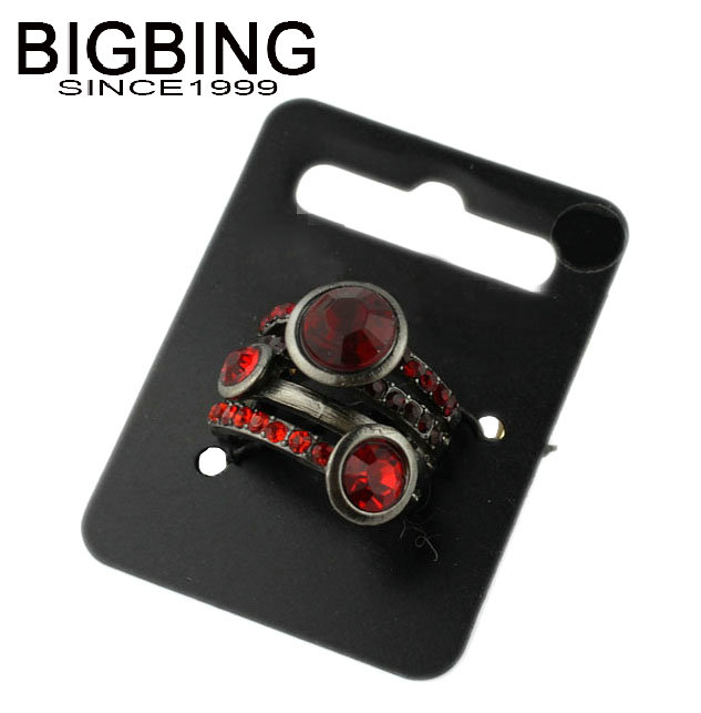 Bigbing jewelry fashion red gem elastic ring retro palace female personality ring wholesale accessories S388(China (Mainland))