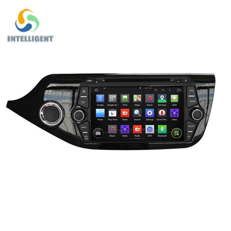 Android 5.1.1 Quad Core 8 INCH 1024*600 screen fit Kia CEED 2013 2014 2015 Car DVD Player 2 din GPS Radio WIFI BT Map Ipod Audio(China (Mainland))