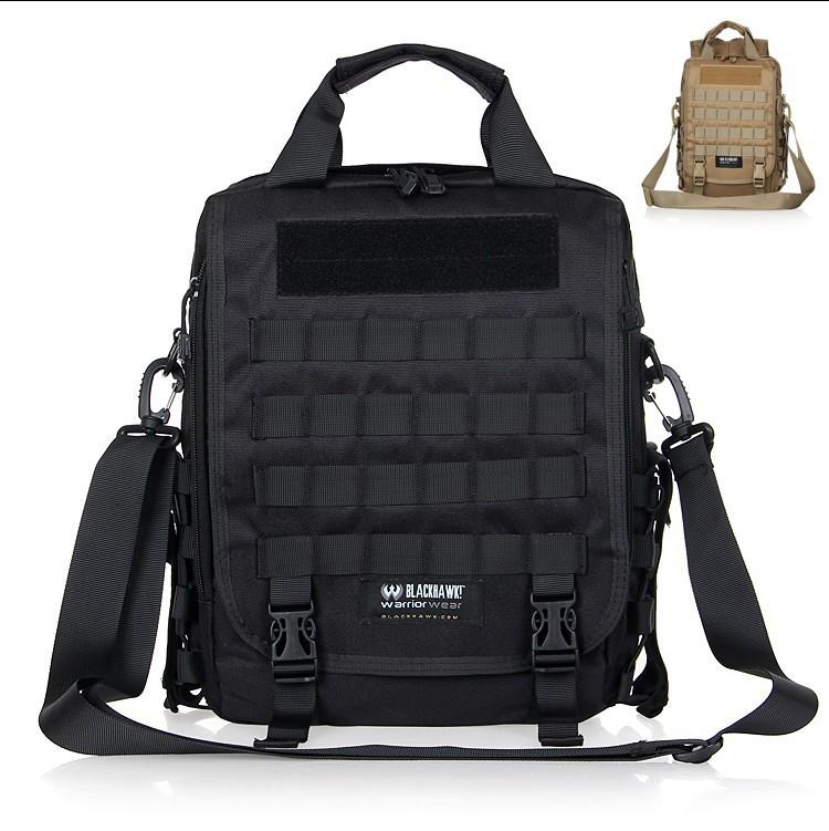 free shipping!1000D nylon Blackhawk tactical backpack /travel outdoor bag/ laptop bag cross-body shoulder bag black/mud(China (Mainland))