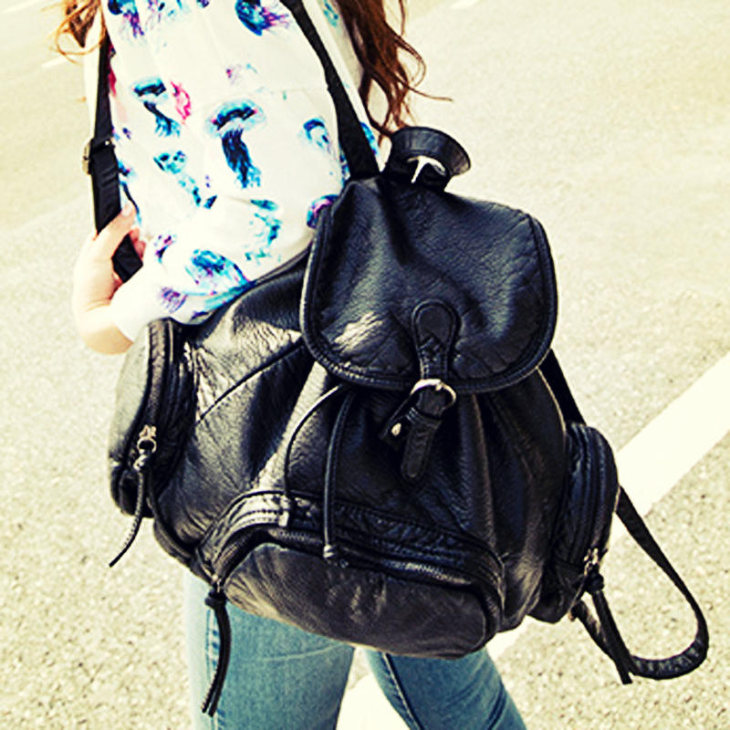Classical top design 2015 Women Backpack Import pu leather backpack School Backpacks For Women Fashion New<br><br>Aliexpress