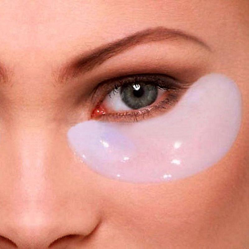 5pair Crystal Eyelid Patch Anti - Wrinkle Whitening Crystal Collagen Eye Mask Dark Circle Eye Masks For Face(China (Mainland))