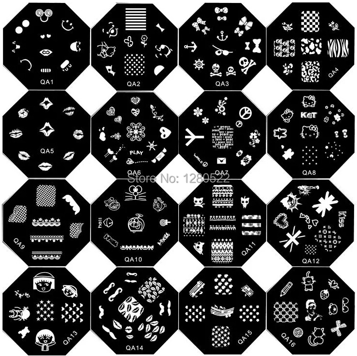 12pcs Fashion Nail Tools Template Nail Stamping Image Plates Art 60 Models for Choose without Stamper(China (Mainland))