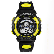 Durable 1PC Summer Style Children Boy Waterproof  Sports LED Digital Watch Wholesale Fast Shipping