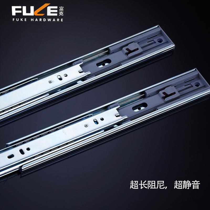 Drawer track mute damping rail extension furniture lifting slide rails computer desk keyboard tray(China (Mainland))