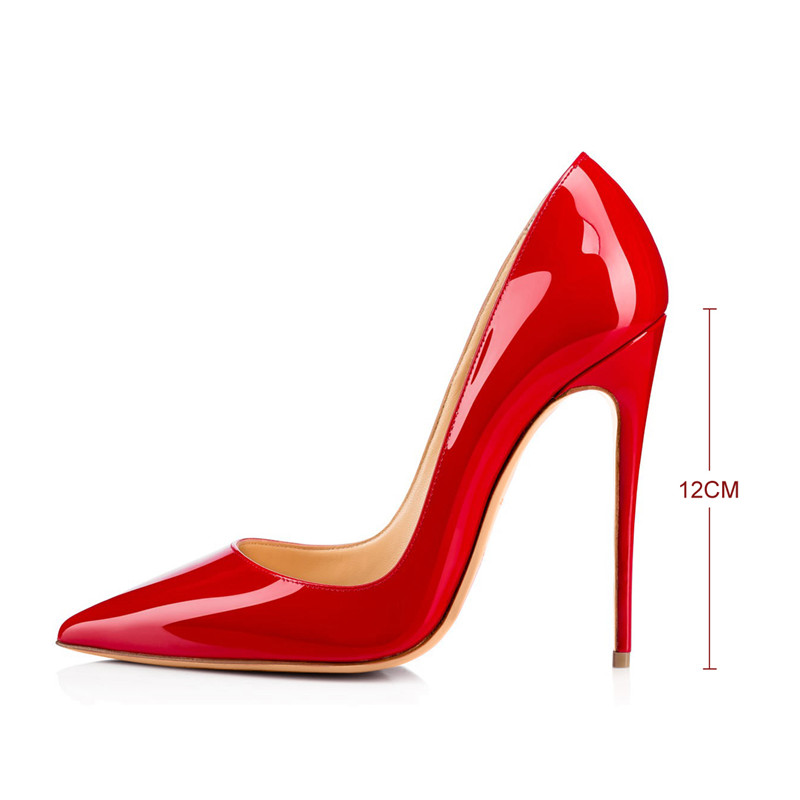HTB1tnpRQpXXXXaBaXXXq6xXFXXXV - Onlymaker Women Shoes Thin High Heel Stilettos Pointed Toe Patent Leather Shoes 4.7 inch Plus Big Size 15 Wedding Pumps Brand