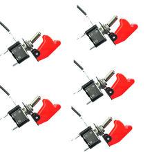 5 шт. 12 В 20A красной обложке из светодиодов манипулятор тумблер SPST ON / OFF для автомобиля грузовик