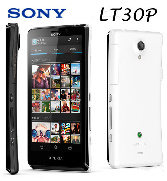 Original Unlocked Sony Xperia T LT30p Mobile Phone 4.6''1280x720 Dual-core 1.5GHz 16GB 13MP 3G GPS WiFi Android 4 Free shipping(China (Mainland))