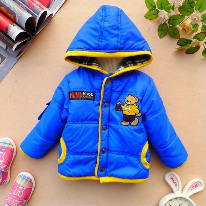 2014 Christmas Children's Clothing Cotton-padded Jacket Boys Girls Bear Panda Coat Kids Cartoon Woolen Outerwear(China (Mainland))