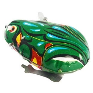Nostalgic Classic Iron Wind-up Green Frog Toy An Old Metal Tin Wind Up Animal Interesting Toys For Children Gifts For Kdis(China (Mainland))