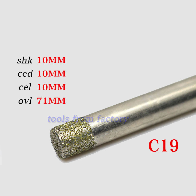 1pc 10*10mm cnc router Electroplated diamond stone carving tool stone engraving machine cutter stone cutting bits(China (Mainland))