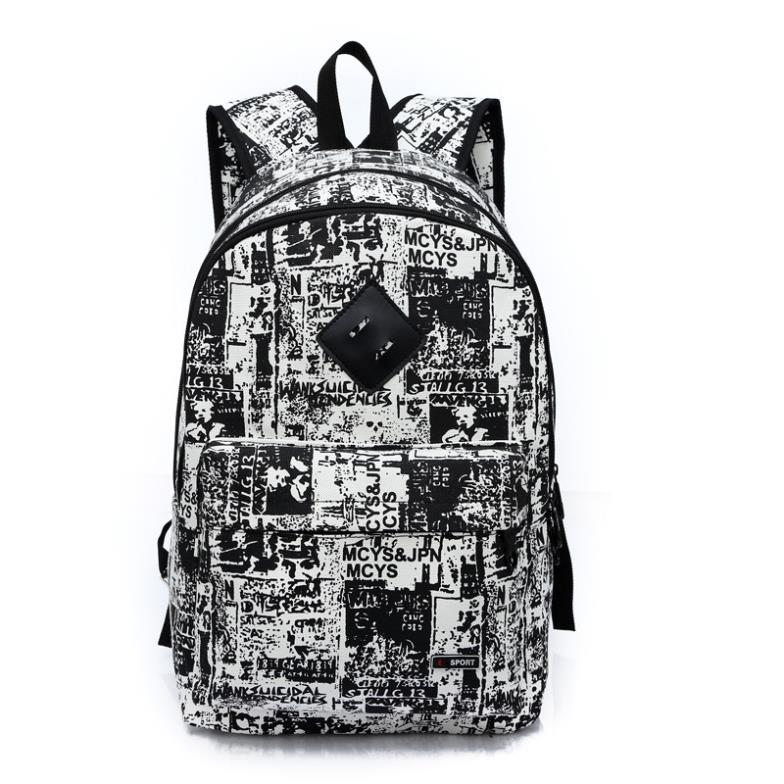 Girl Women Paper Design Printed Canvas Backpacks Student School Campus Leisure Shoulder Bags Daily HikeTraveling Backpacks<br><br>Aliexpress