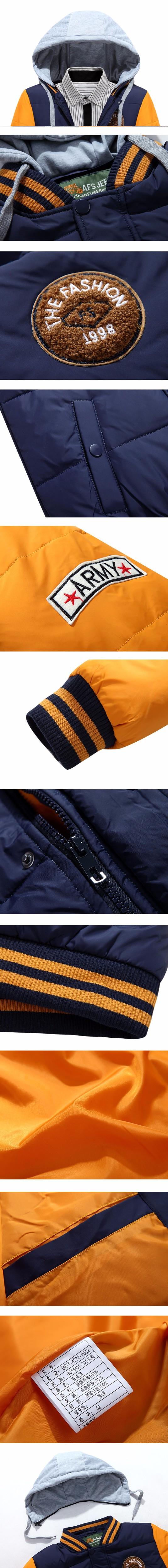 Yüksek Kalite Kış Ceket Erkekler Marka Sıcak Kalın Ceket Mektup nakış Erkekler aşağı ceketler Eğlence beyzbol giyim Artı Boyutu 3XL