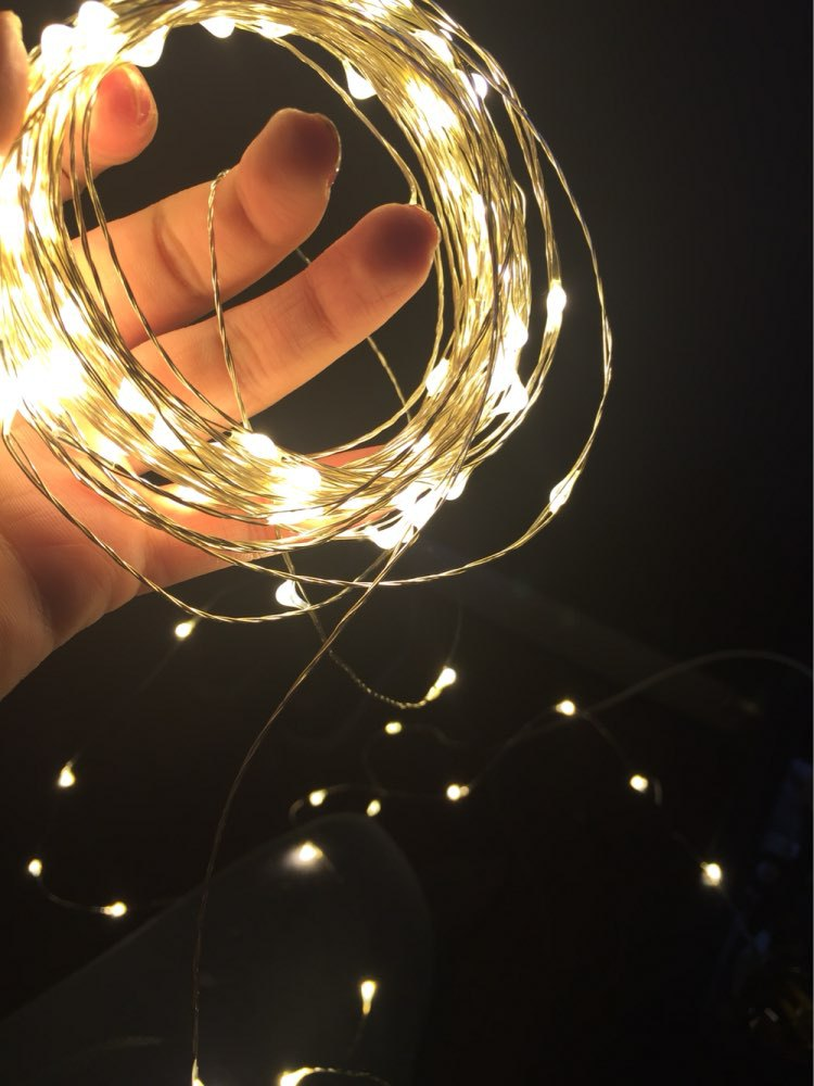 Freen Shipping Romantic 10M 100LED Battery powered Charming Warm white Christmas Home Outdoor Wedding Fairy String Light(China (Mainland))