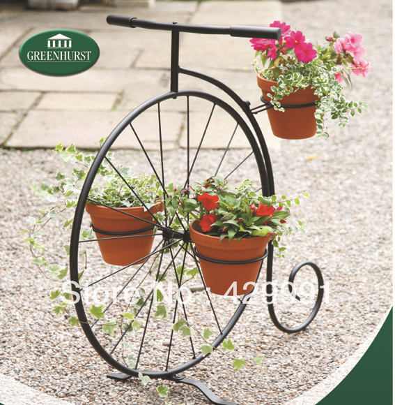 K d home garden decorative single bicycle planter stand creative bicycle planter stand in - Bicycle planter stand ...