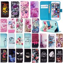 Buy Fashion Pink Flower Flip Case iPhone 6 6S Plus 7 7 Plus 5 5S SE Stand Wallet PU Leather + Soft TPU iPhone 7 7Plus Cover for $2.24 in AliExpress store