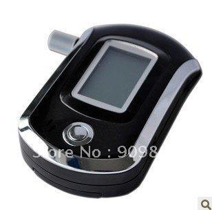 AT6000 Black Digital Alcohol Breathalyzer Breath Tester LCD Breathalizer Tester Device Machine Free shipping(China (Mainland))