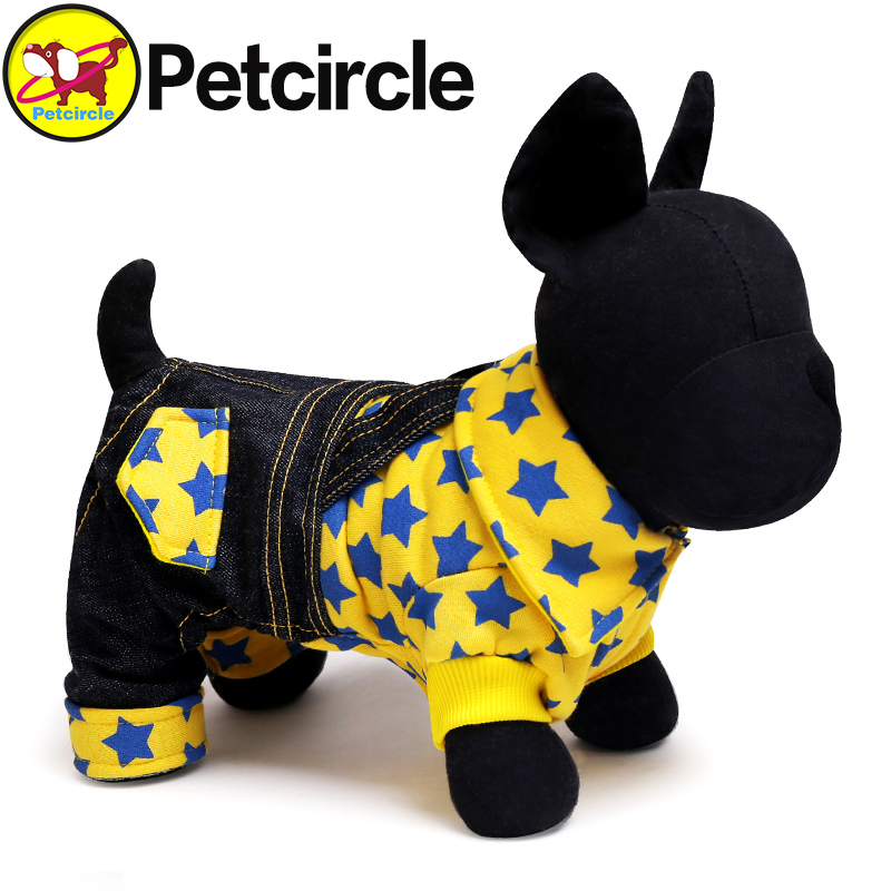 Petcircle Hot Sale Four Feet Garments Dog Clothes High Quality Jean Dog Overalls 3 Color Lovely Pet Dog Products Costume(China (Mainland))