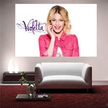 LUQI Custom Violetta Canvas Painting Wall Silk Poster cloth print DIY Fabric Poster free shipping SQ0626-L998U(China (Mainland))