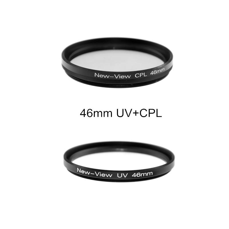 2 Шт./лот 46 мм CPL Циркулярный Поляризационный Фильтр + УФ-Фильтр Объектива Для Canon Sony Nikon D700 D500 Pentex DSLR Камеры фильтры Комплект
